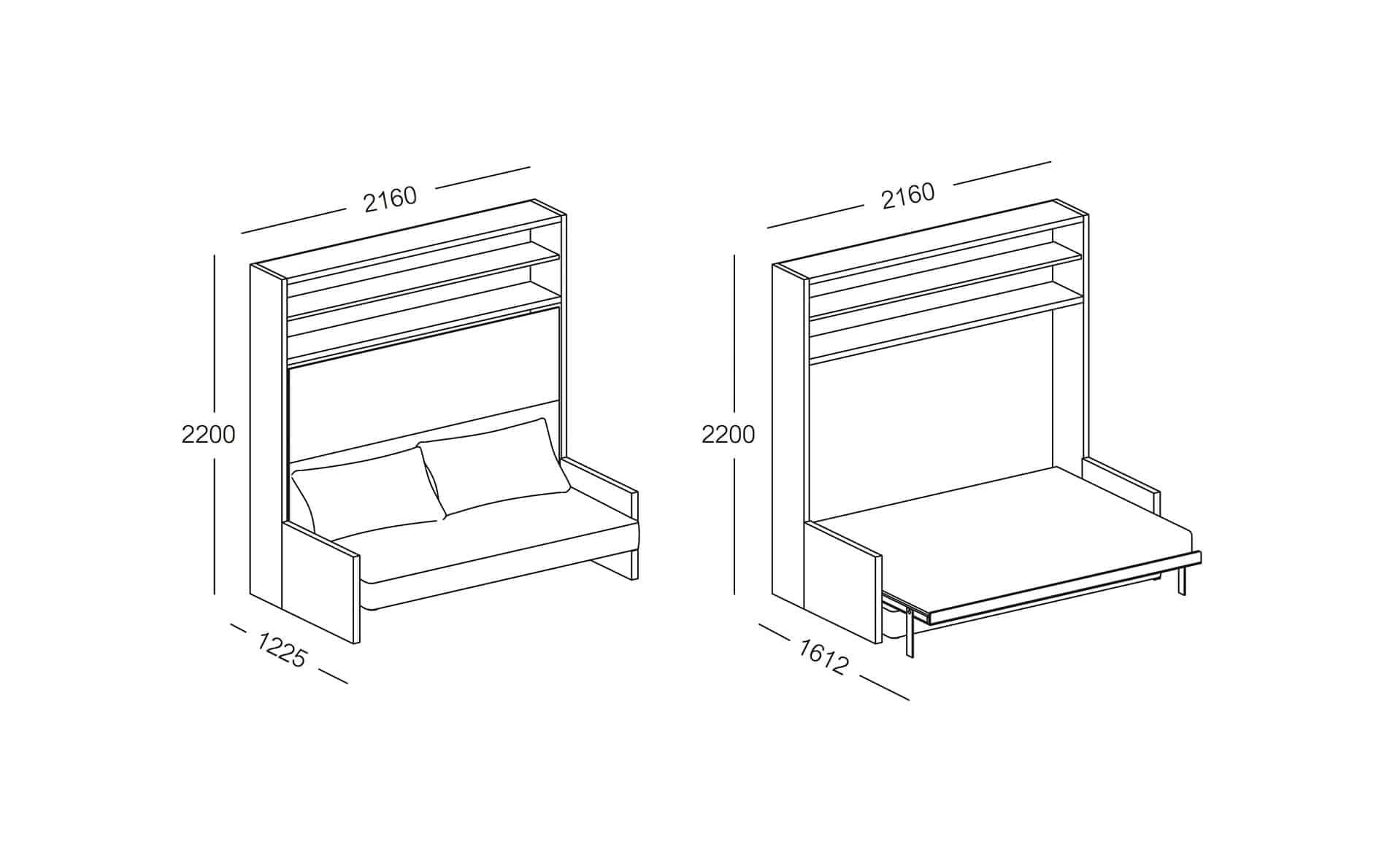 schrankbett circe sofa home the honoroak. Black Bedroom Furniture Sets. Home Design Ideas