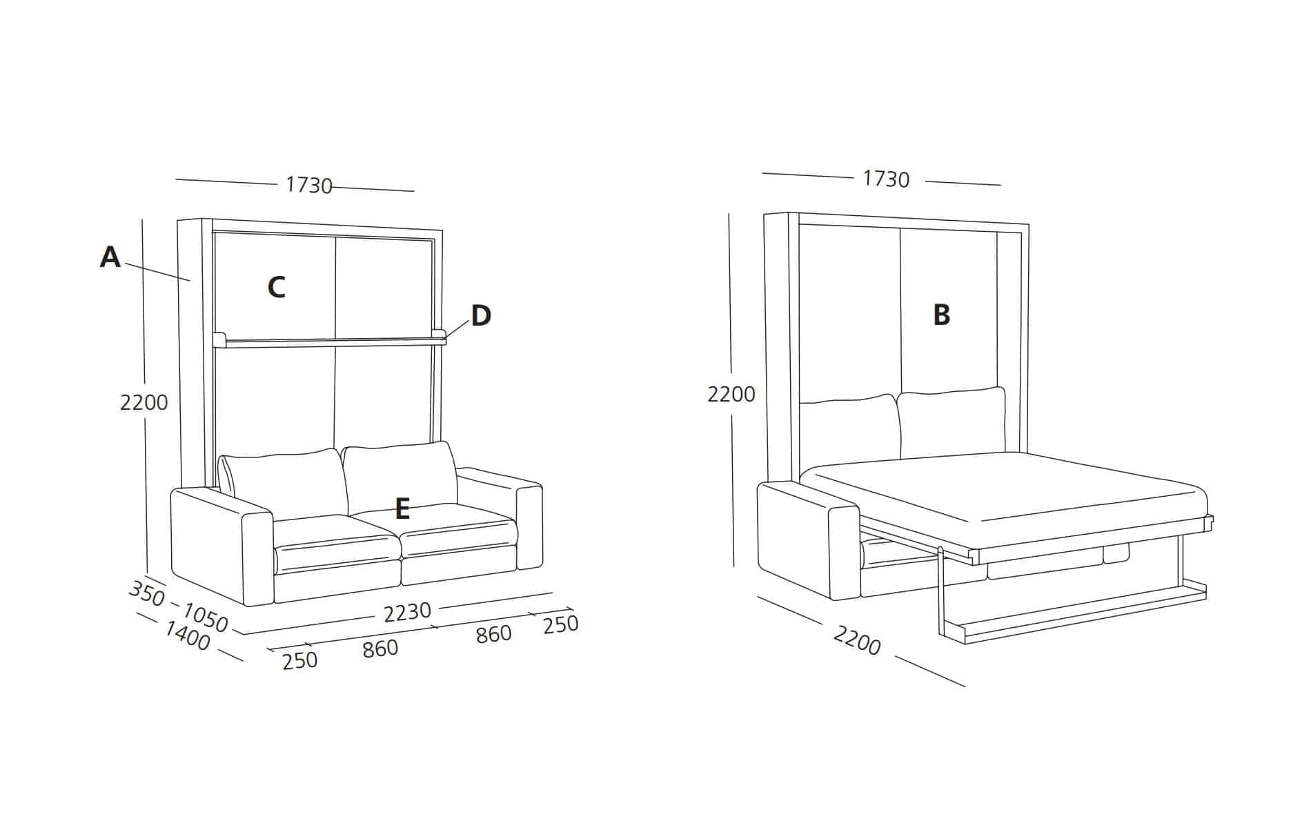 schrankbett florenz von nehl preise und rabatt angebote. Black Bedroom Furniture Sets. Home Design Ideas
