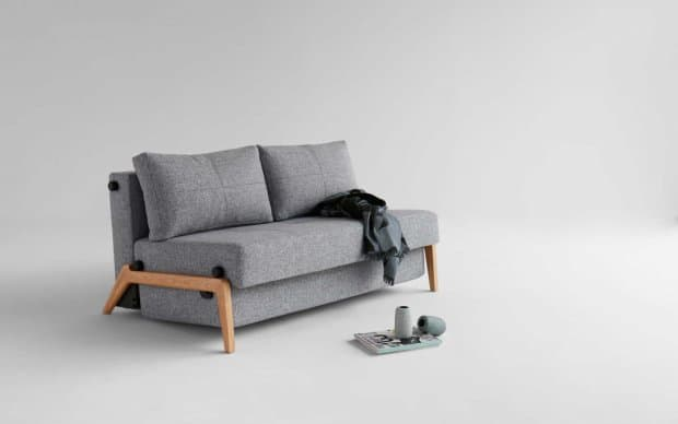 Innovation Schlafsofa Cubed 140 Wood frontal