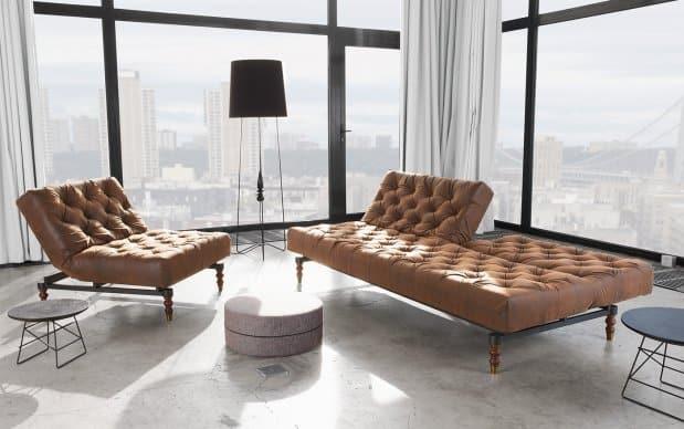 Innovation Oldschool Chair und Sofa Showroom brown