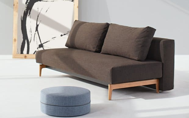 Innovation Schlafsofa Trym braun mixed dance hinten