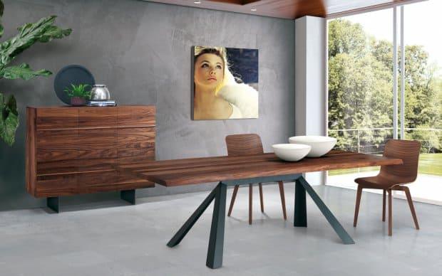 Oliver B Casa Highboard Horizon HZ 1100 wallnuss mit Tisch 2