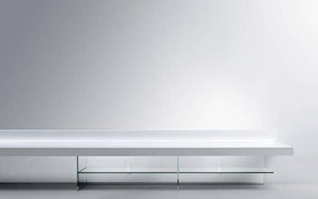 LED TV Board Glas Bank