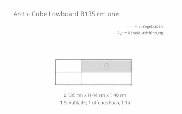 Voice Arctic Cube Lowboard B135 Skizze