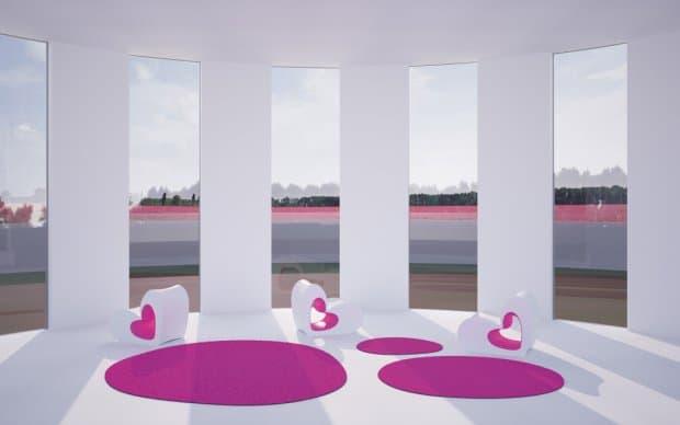 Vondom Agatha Outdoor Teppich pink Terrasse