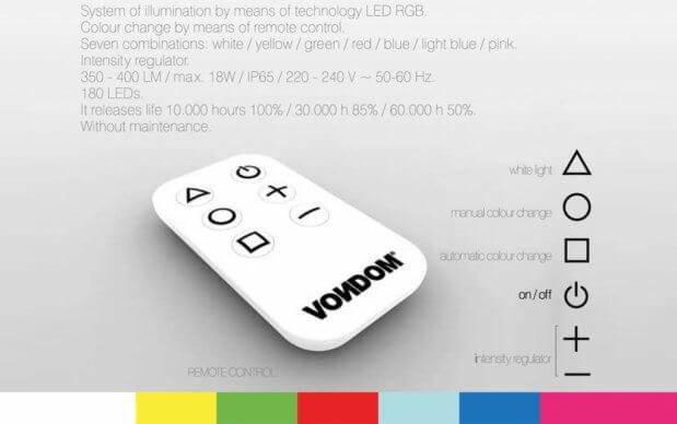 Vondom Vertex Mesa Tisch Remote