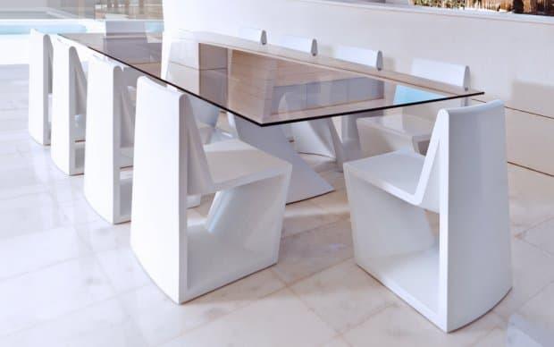Vondom Rest Silla Stuhl mit Tisch