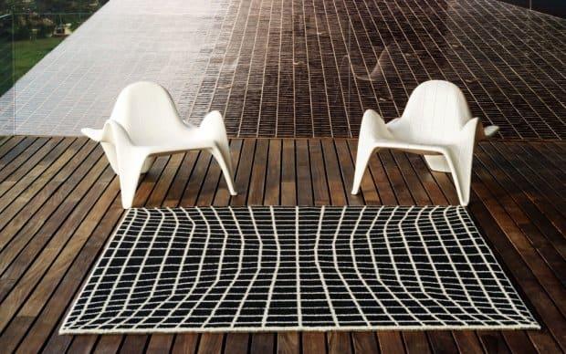 Vondom F3 Outdoor Teppich mit Stühlen