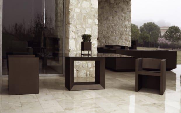 Vondom Vela Silla Stuhl mit Tisch