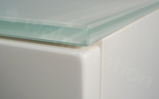 Arctic Kommode weiße Glasplatte