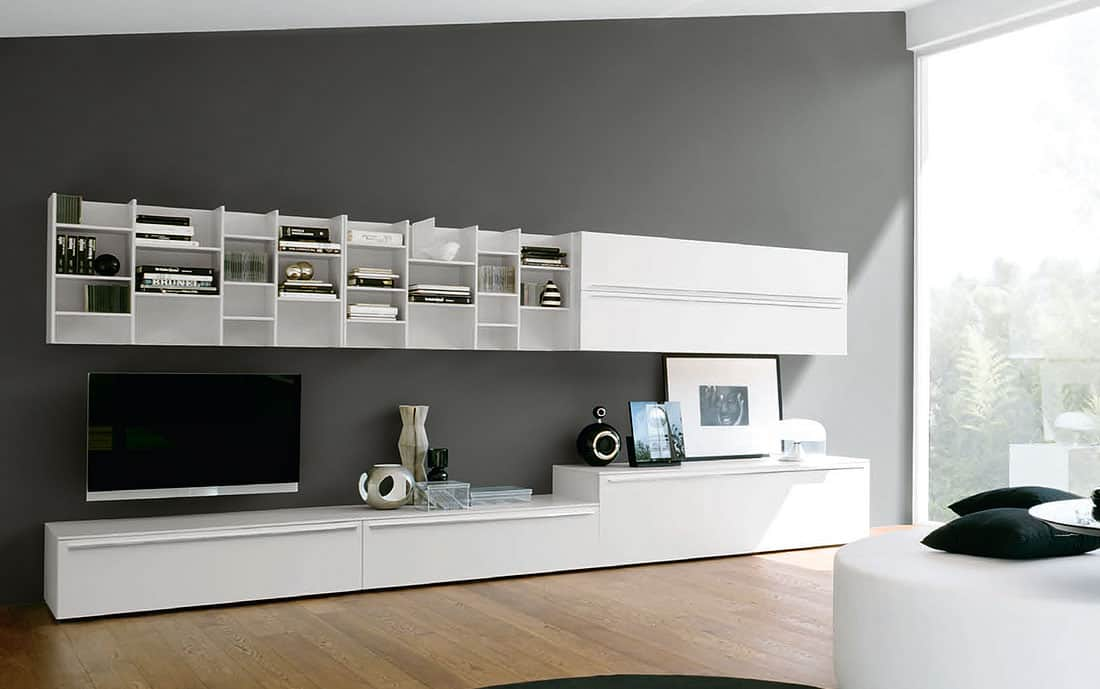 schrankwand mit bett g nstig kaufen. Black Bedroom Furniture Sets. Home Design Ideas