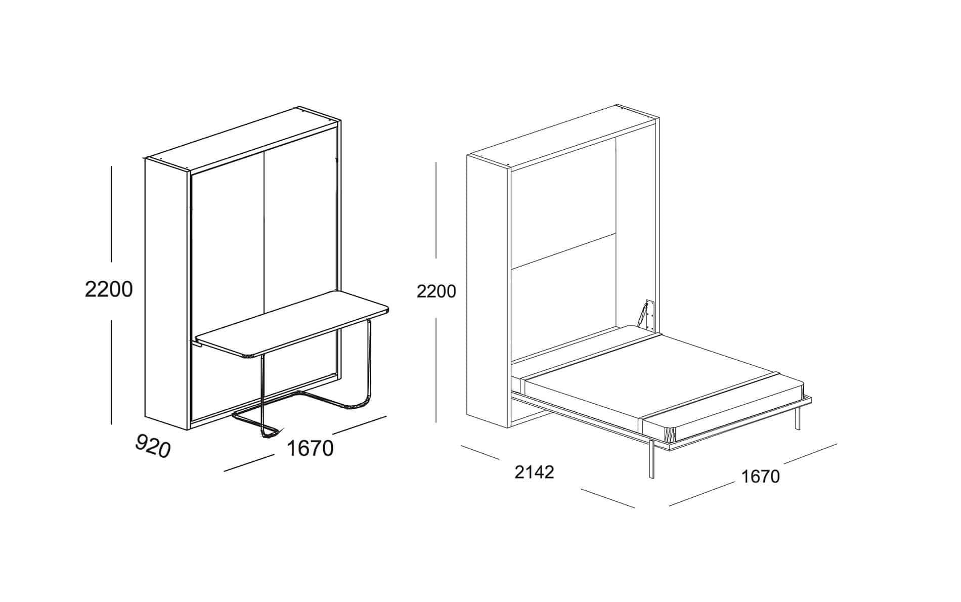 clei ulisse clei m bel wandbetten schrankbetten. Black Bedroom Furniture Sets. Home Design Ideas