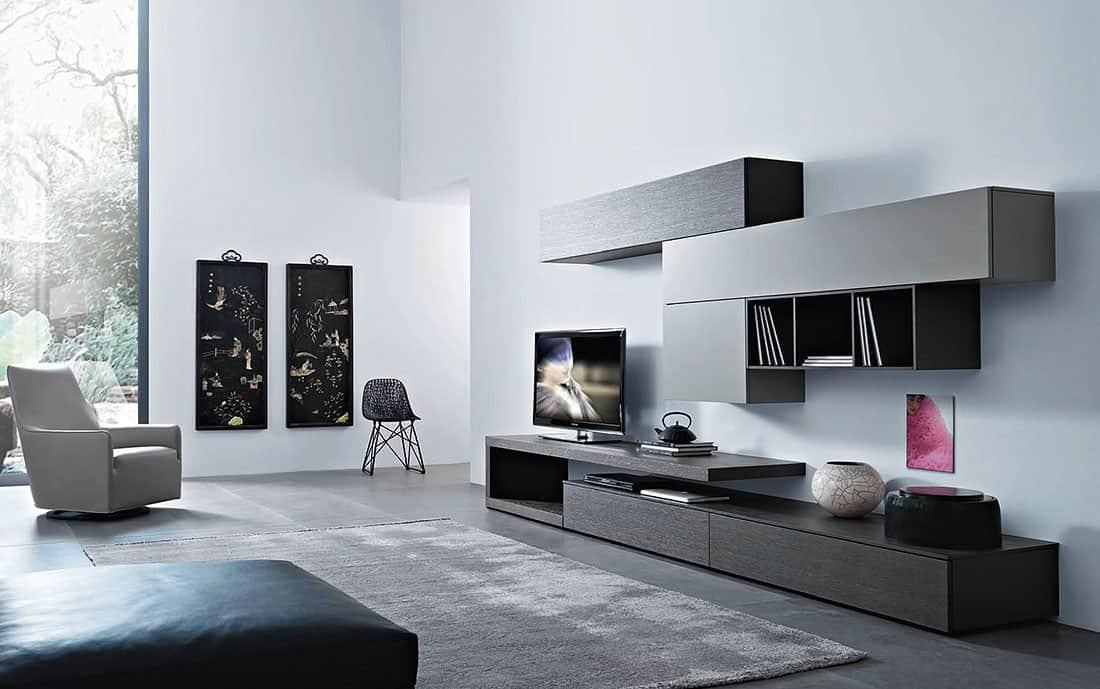 Tv wand lampo l2 25 design wohnwand - Arredo soggiorni moderni ...