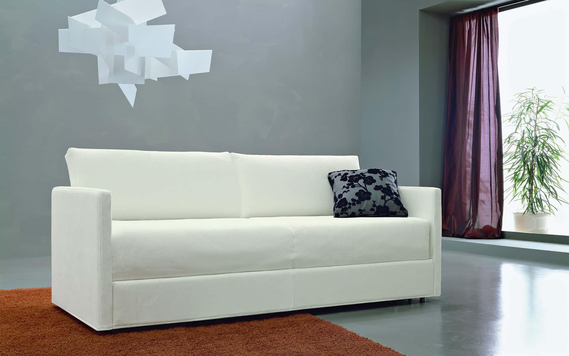 Meta design schlafsofa mago polyesterbezug for Schmale schlafsofas