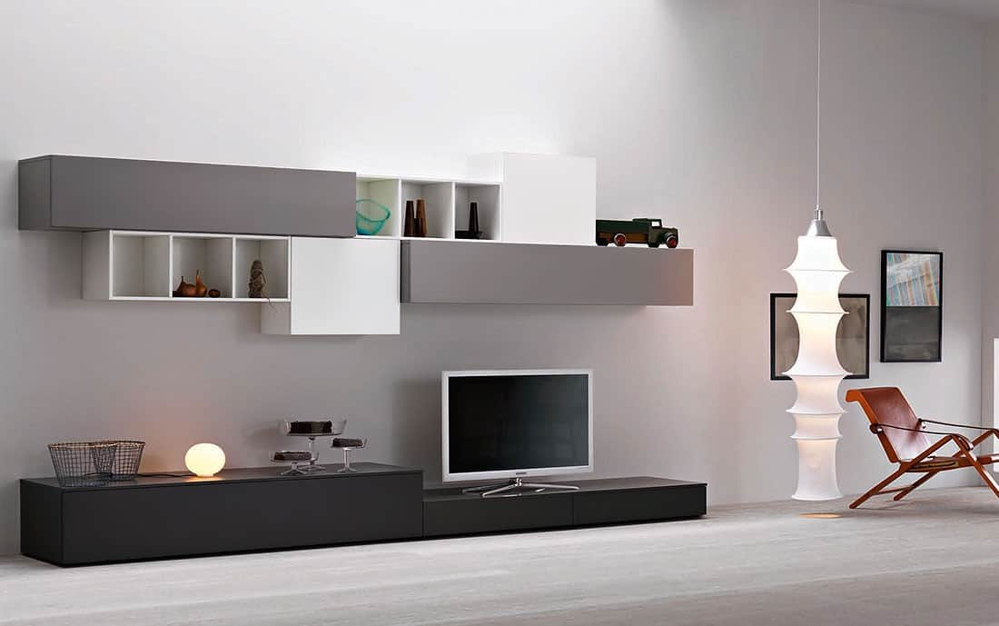 tv wand lampo l2 36 design wohnwand. Black Bedroom Furniture Sets. Home Design Ideas