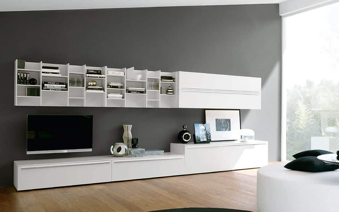 tv wand lampo l2 37 design wohnwand. Black Bedroom Furniture Sets. Home Design Ideas