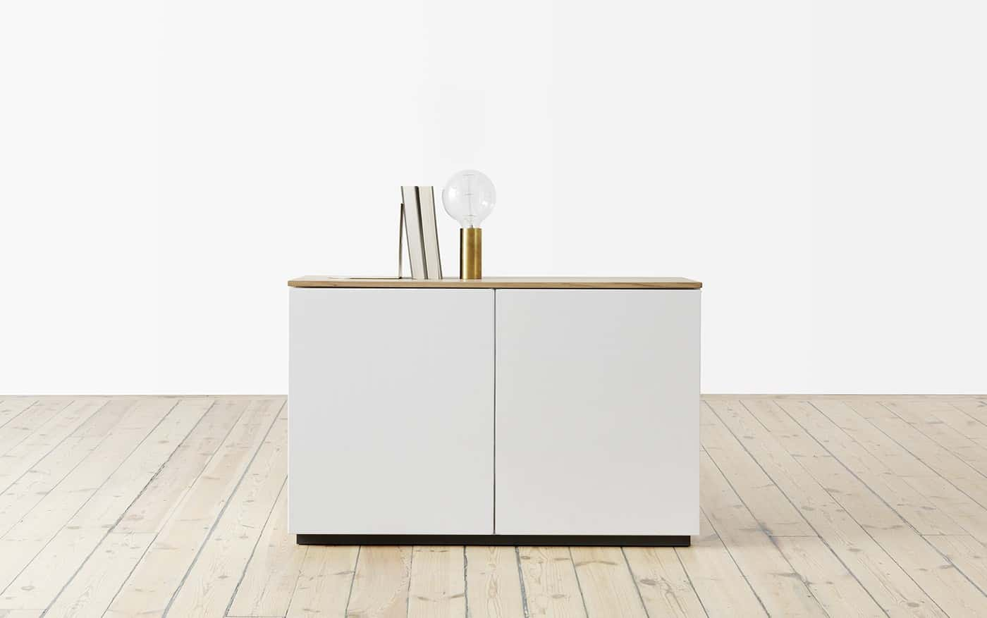 arctic sideboard 90 cm mit 2 t ren. Black Bedroom Furniture Sets. Home Design Ideas