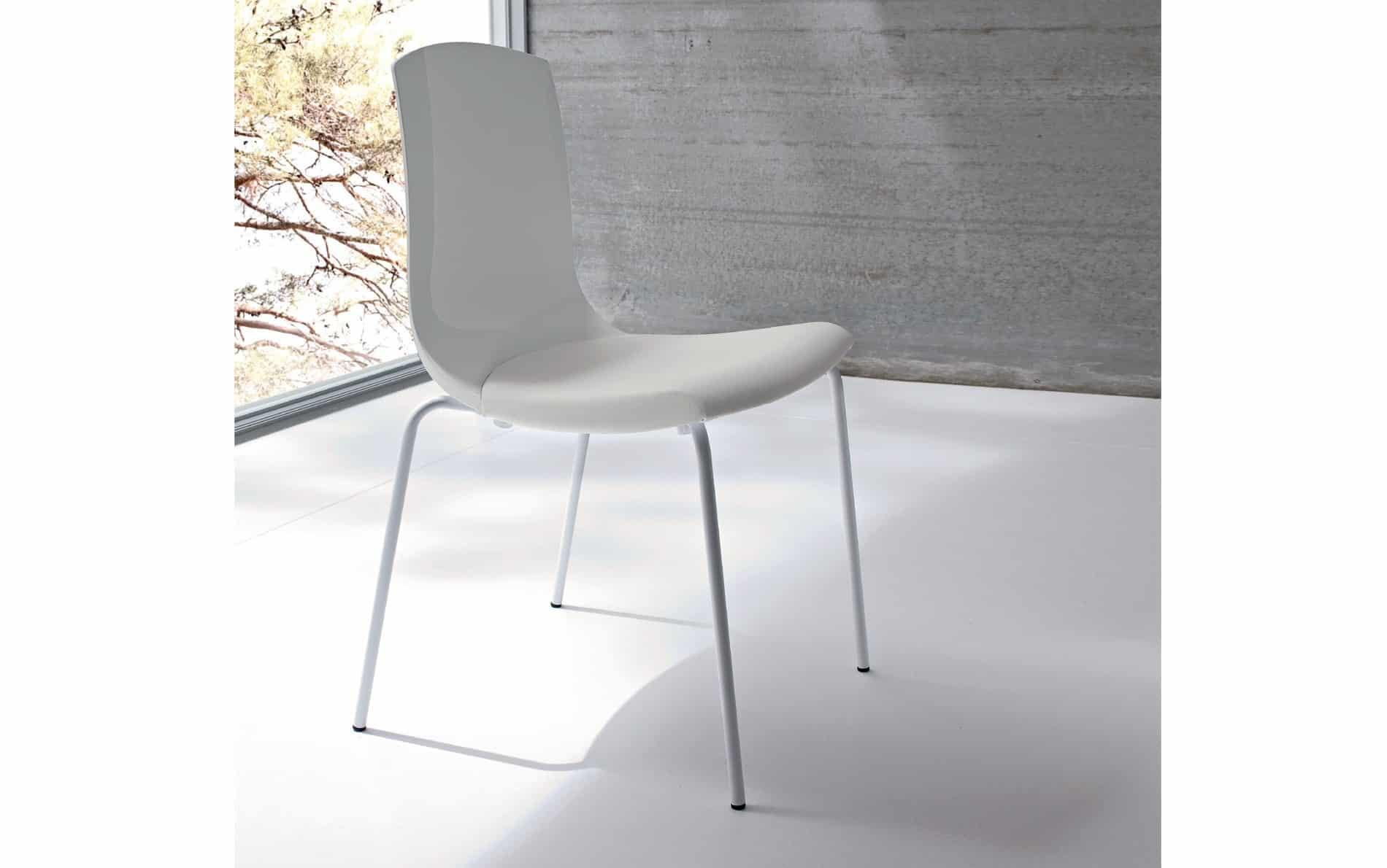 Sedit design stuhl smile transparent hochglanz for Stuhl design weiss