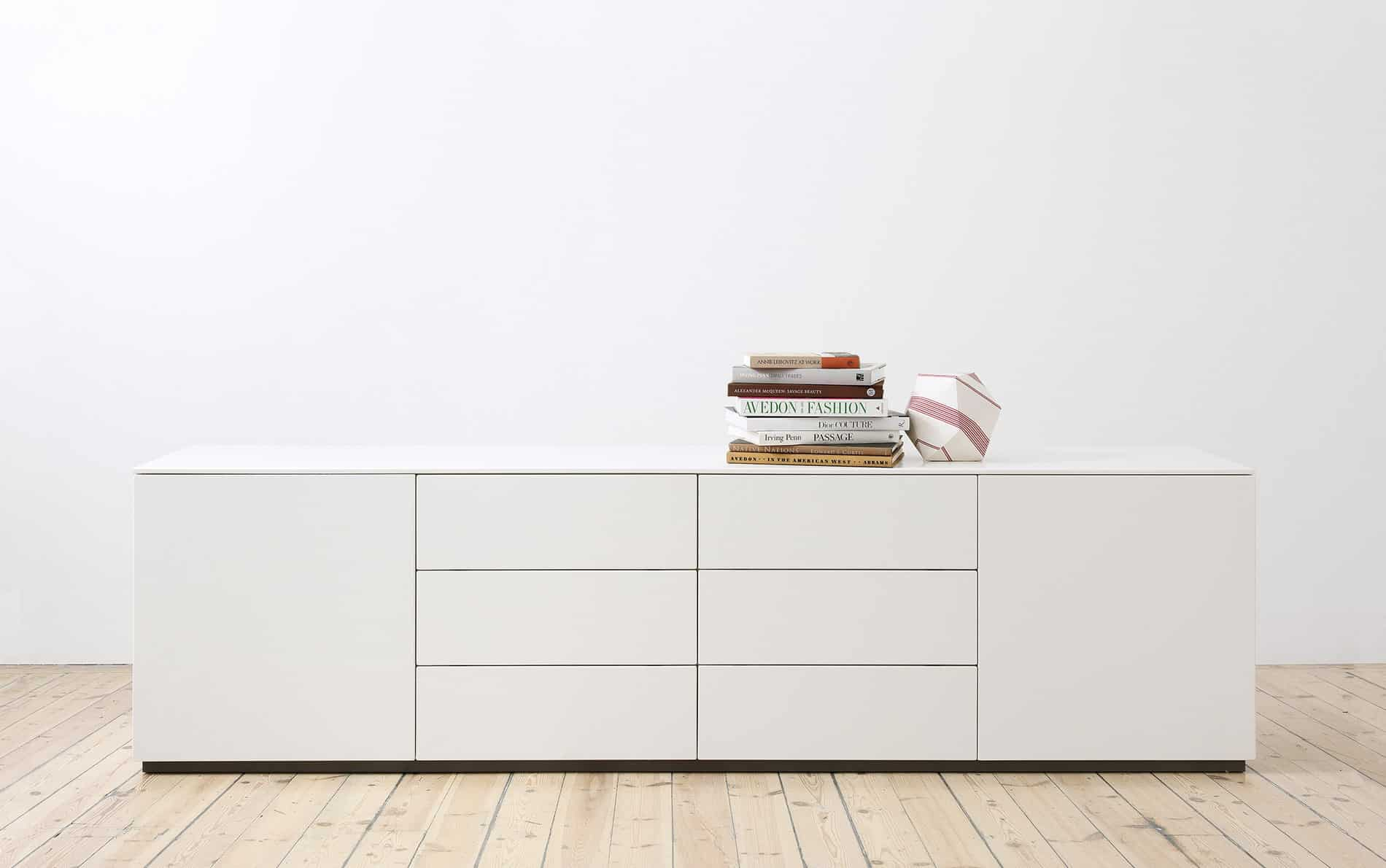 voice arctic sideboard 240 cm breit mit 6 schubladen. Black Bedroom Furniture Sets. Home Design Ideas