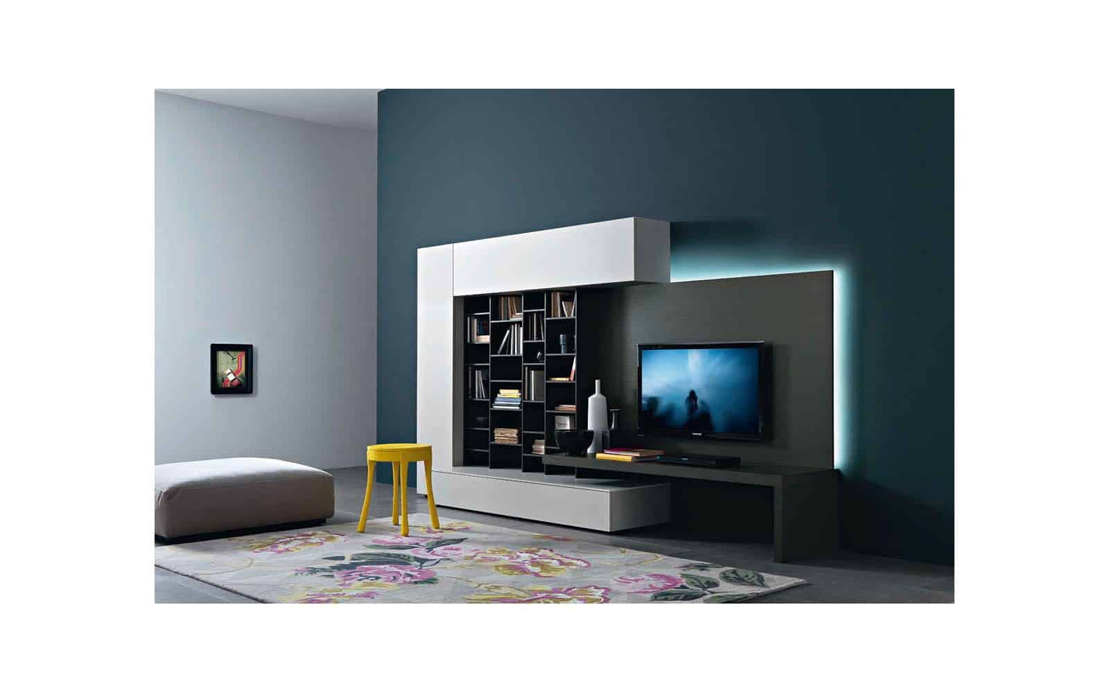tv wand lampo l2 21a design tv wohnwand. Black Bedroom Furniture Sets. Home Design Ideas