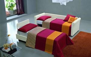 Meta Design Schlafsofa Mago Polyesterbezug als Einzelbetten