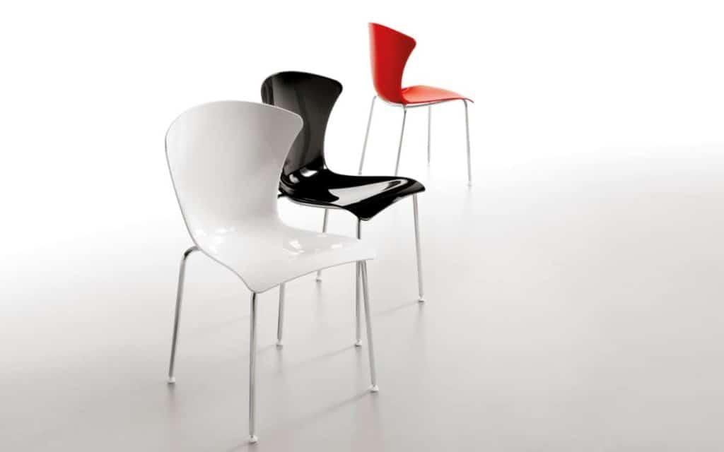 Infiniti design stuhl glossy versch farben transparent for Infiniti design stuhl