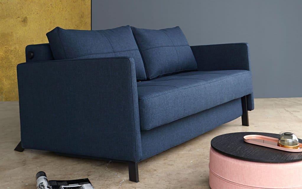 design schlafsofa cubed 140 deluxe mit armlehnen sonderanfertigung von innovation. Black Bedroom Furniture Sets. Home Design Ideas