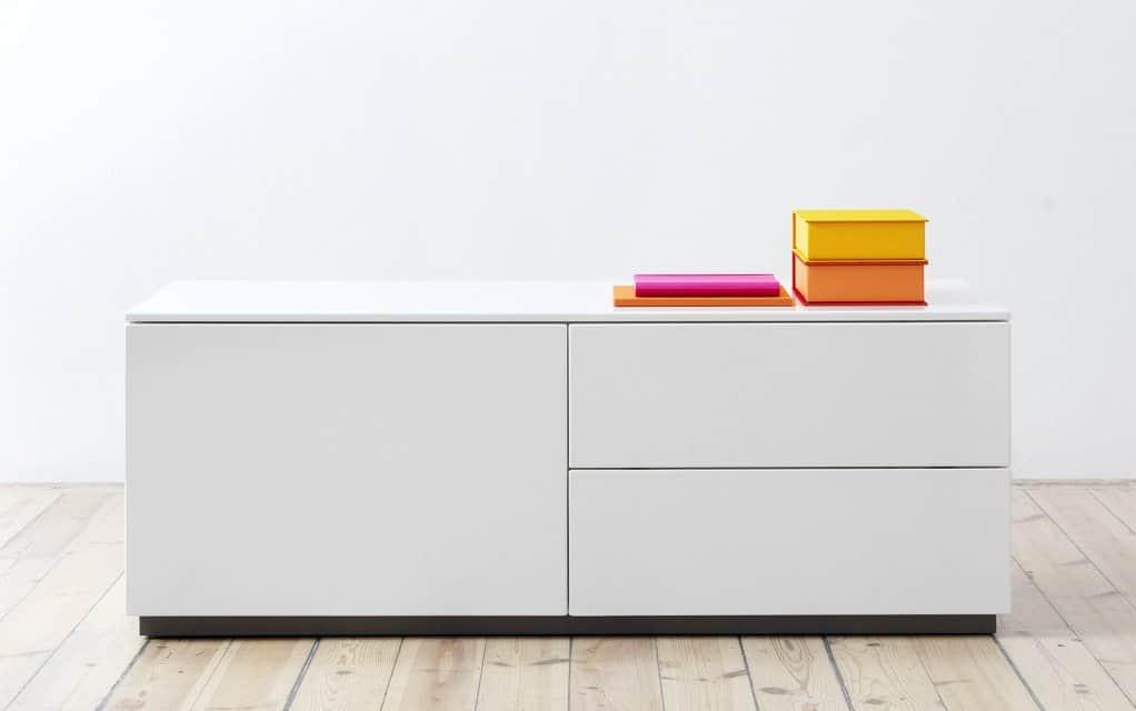 voice arctic lowboard 120cm breit mit 2 schubladen. Black Bedroom Furniture Sets. Home Design Ideas