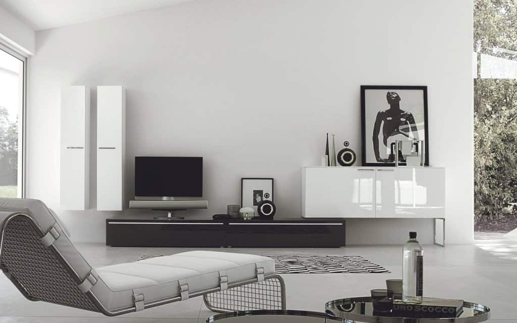 san giacomo design tv wohnwand lampo 18. Black Bedroom Furniture Sets. Home Design Ideas