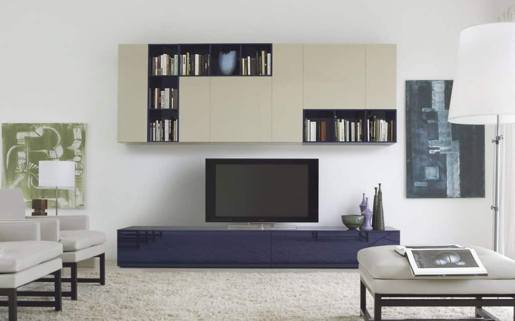 san giacomo designer wohnwand mit tv lowboard. Black Bedroom Furniture Sets. Home Design Ideas