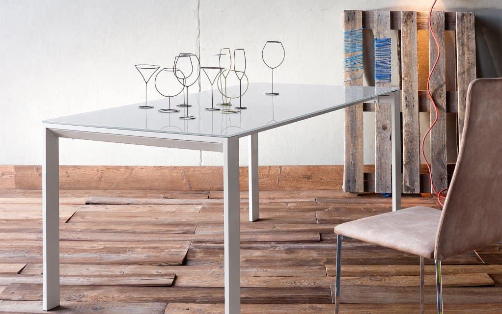 sedit tisch fusion glas. Black Bedroom Furniture Sets. Home Design Ideas