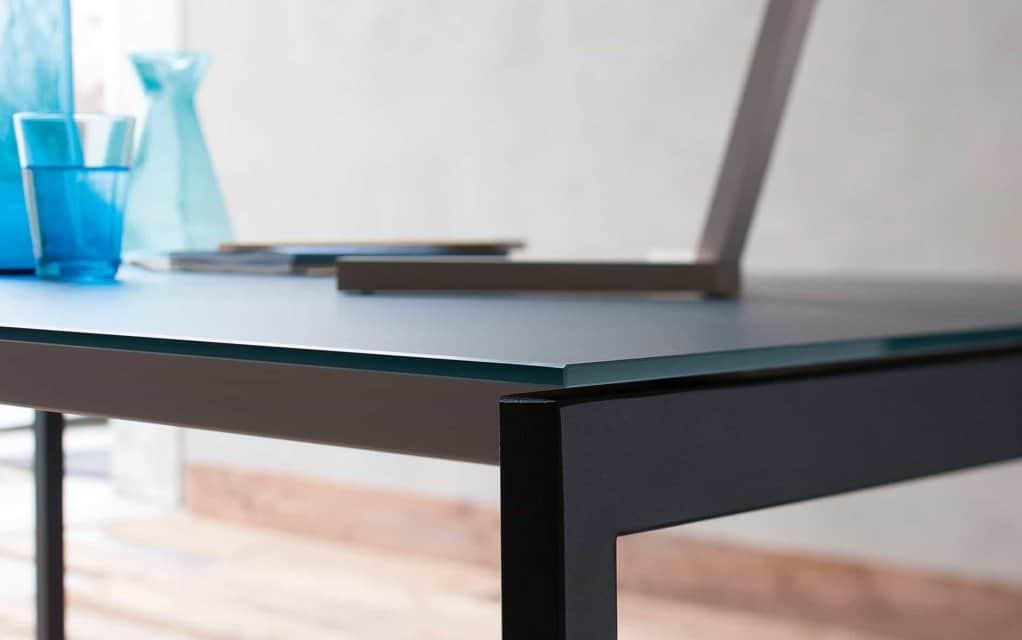 tisch oscar glas tisch ausziehbar. Black Bedroom Furniture Sets. Home Design Ideas