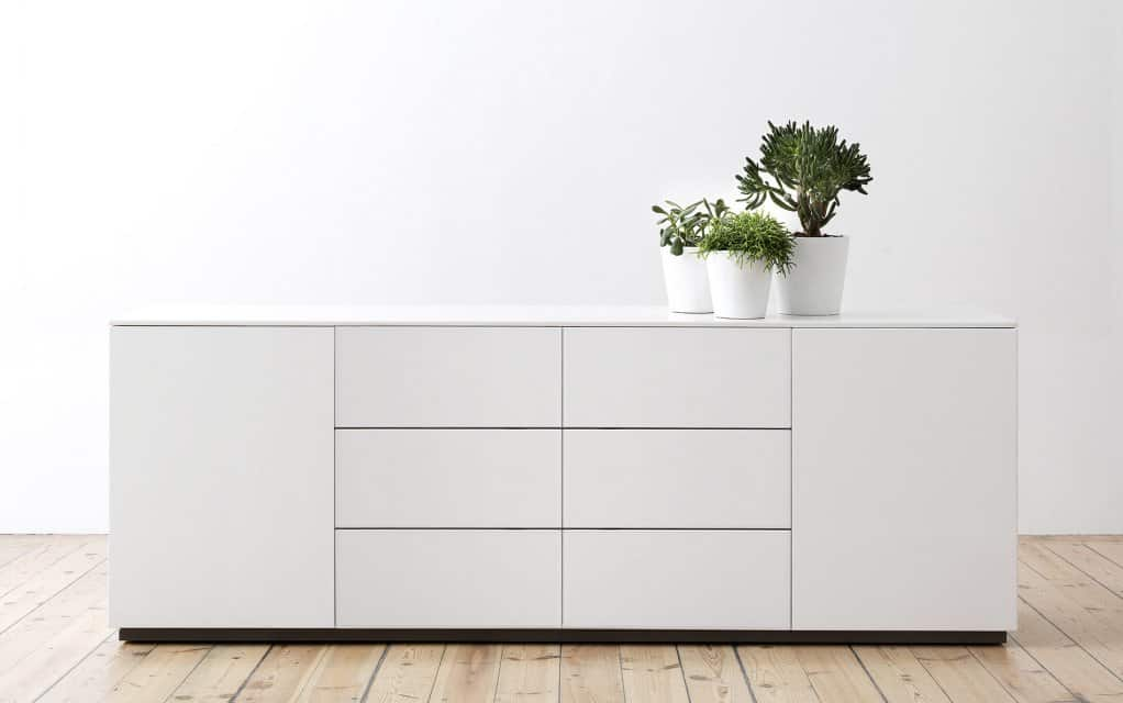 voice arctic sideboard 180 cm breit mit 6 schubladen. Black Bedroom Furniture Sets. Home Design Ideas