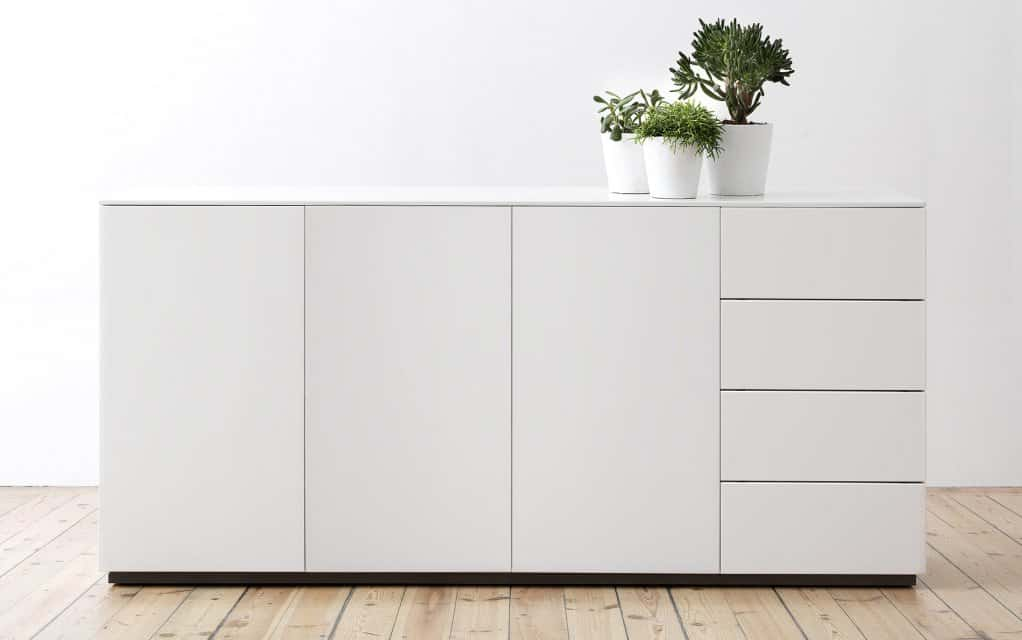 voice arctic sideboard 180 cm breit mit 4 schubladen. Black Bedroom Furniture Sets. Home Design Ideas