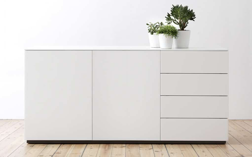 voice arctic sideboard 180 cm breit mit 3 schubladen. Black Bedroom Furniture Sets. Home Design Ideas