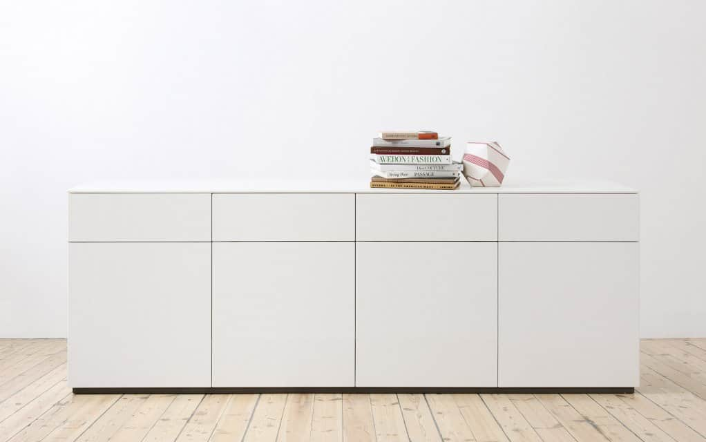 voice arctic sideboard 240 cm mit 4 t ren schubladen. Black Bedroom Furniture Sets. Home Design Ideas