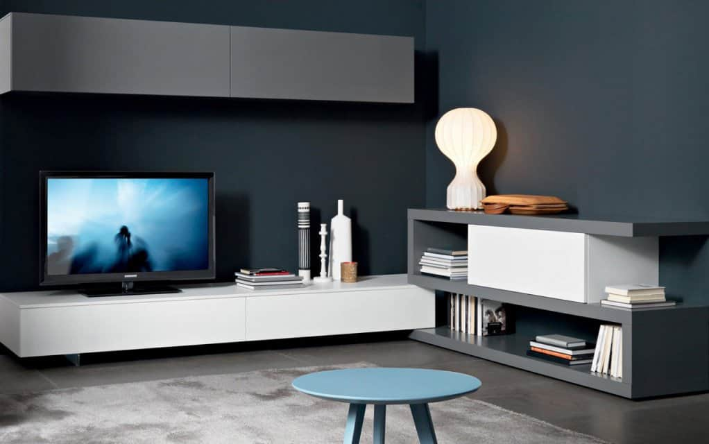 tv wand lampo l2 23a eck lowboard. Black Bedroom Furniture Sets. Home Design Ideas