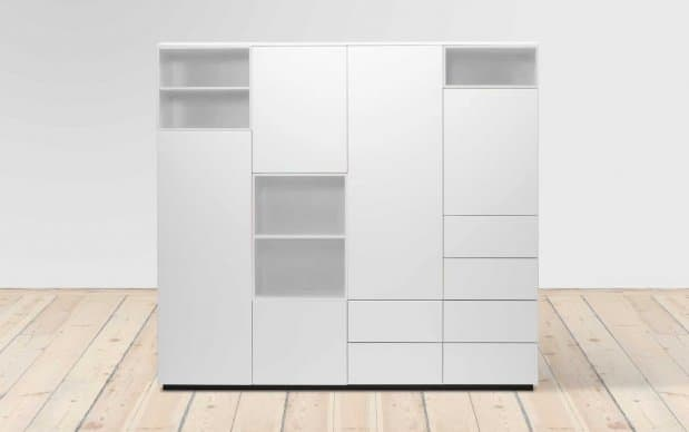 voice arctic cube schrank 180 cm breit 5 schubladen. Black Bedroom Furniture Sets. Home Design Ideas