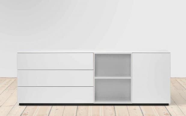 voice arctic cube sideboard 180 cm breit. Black Bedroom Furniture Sets. Home Design Ideas