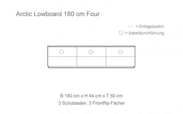 Skizze mit 3 Frontflip-Fächer