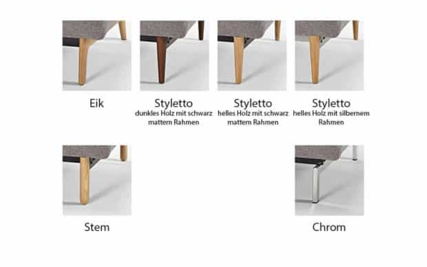 Buri Chair Ausführungen der Beine