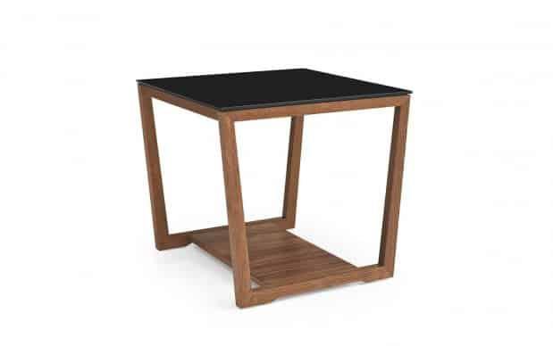 Beistelltisch Element H55 (Calligaris Tische) schwarze Tischplatte und Nuss-Furnier