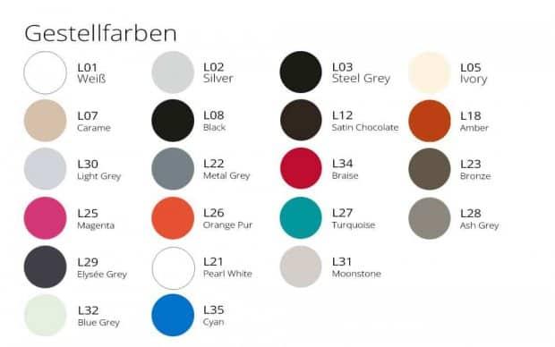 Tandem Mittleres Modul Gestellfarben