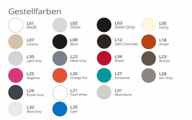 Extrados Tisch 182/242 Gestellfarben