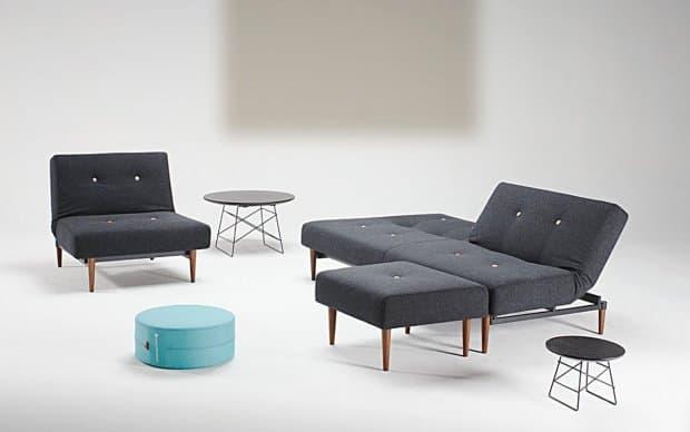 Innovation Fiftynine Chair mit Sofa und Hocker