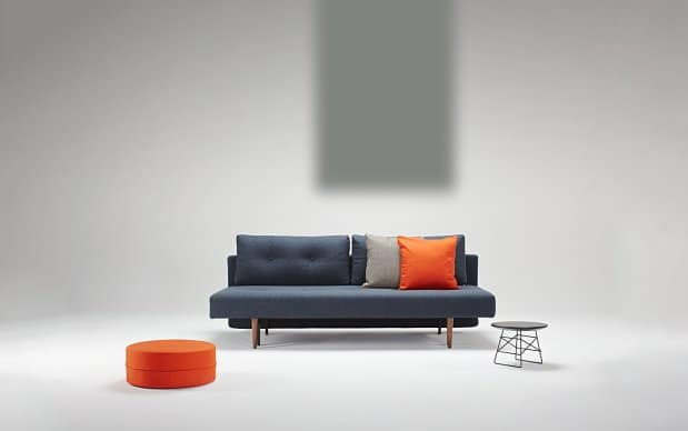 Innovation Schlafsofa Recast blaugrau Showroom