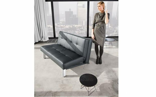 Innovation Schlafsofa Tjaze schwarz Showroom