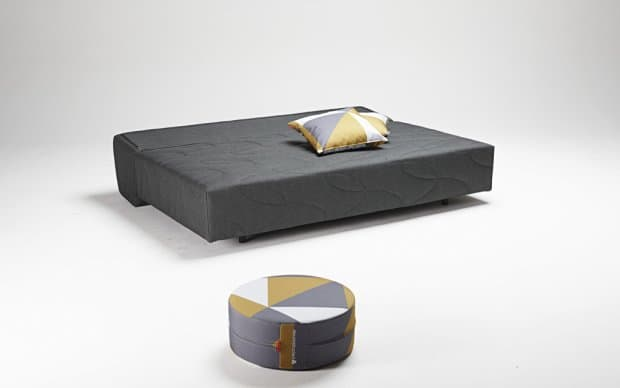 Innovation Schlafsofa Xerxes Graphite Schlafposition Showroom