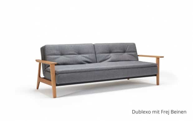 Innovation Schlafsofa Dublexo mit Armlehnen Beine
