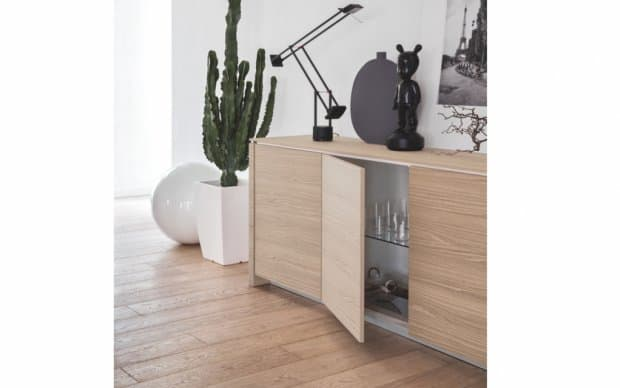 Sideboard Mag Wood 4-tuerig H: 84 (Schublade Natural)